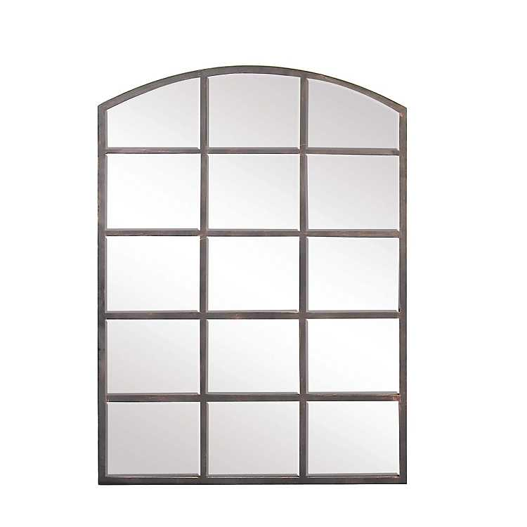 Arched Windowpane Wall Mirror Kirklands, Arched Window Pane Mirror Large