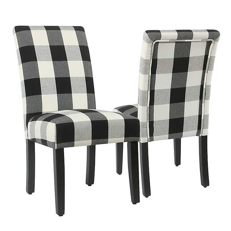 Black Buffalo Check Dining Chairs Set Of 2 Kirklands