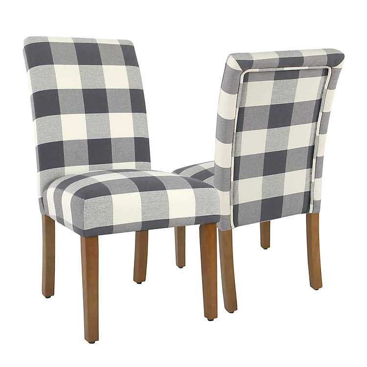 Blue Buffalo Check Dining Chairs Set Of 2 Kirklands