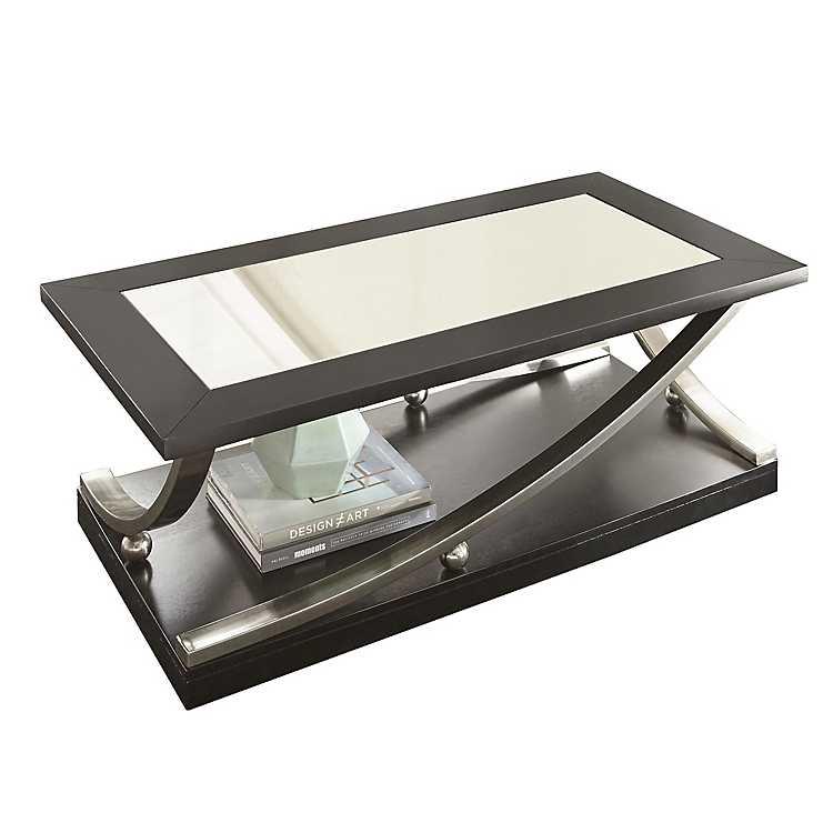 Rykan Black Mirrored Coffee Table Kirklands