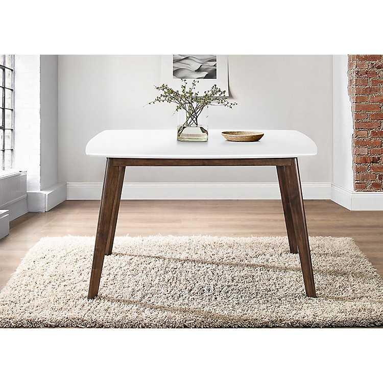 White Top Mid Century Modern Dining Table Kirklands
