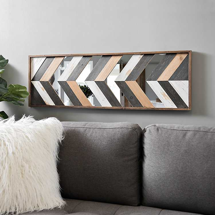 Geometric Wood Plank Art Print Kirklands