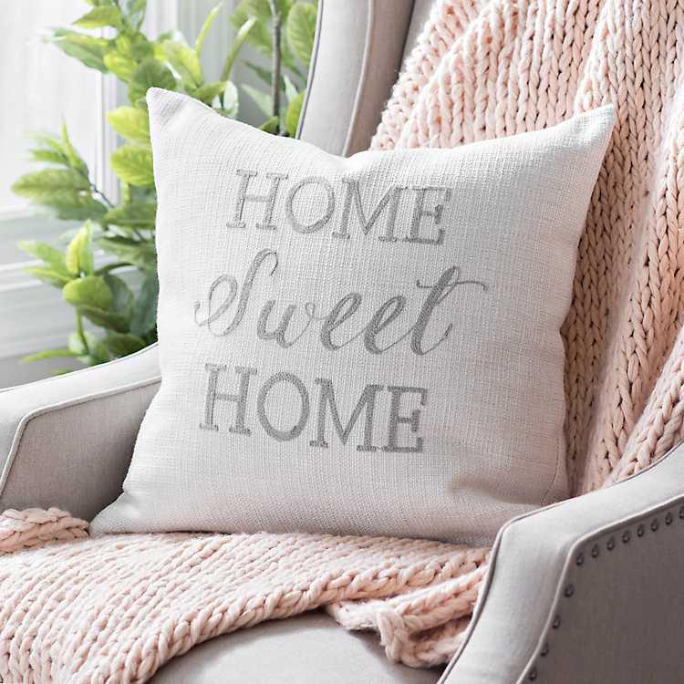 Linen Home Sweet Home Pillow Kirklands