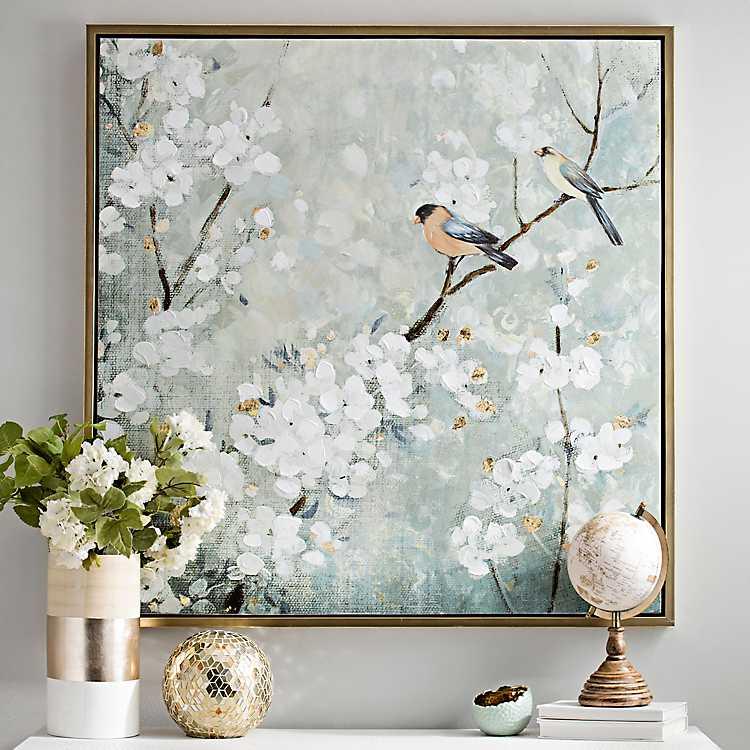 Cherry Blossoms Framed Canvas Art Print Kirklands