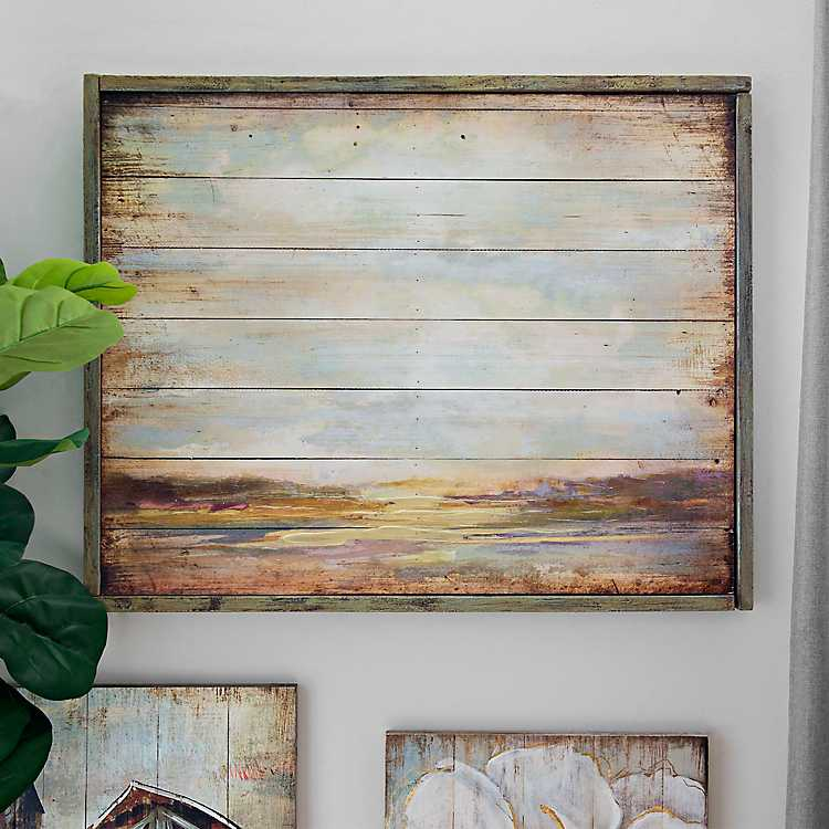 Rustic Landscape Wood Panel Framed Art Print Kirklands