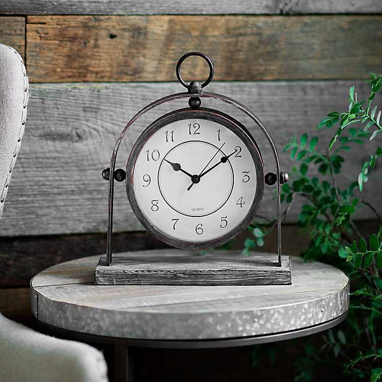 Charles Round Tabletop Clock Kirklands