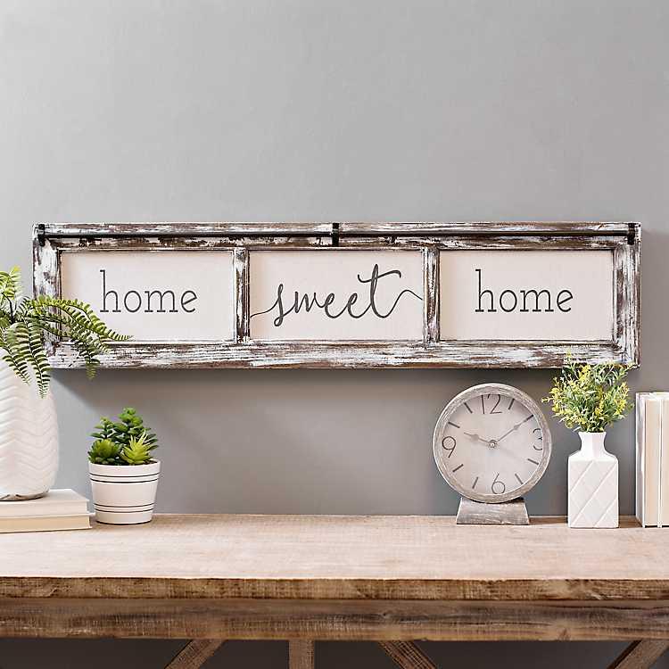 Home Sweet Home Rustic Door Frame Wood Wall Plaque Kirklands
