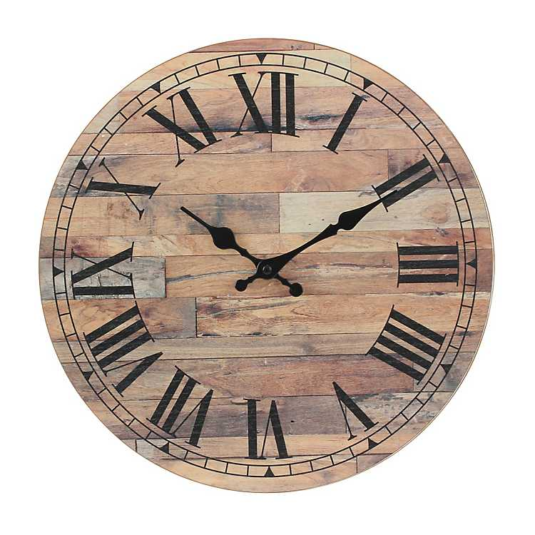 Roman Numeral Wood Plank Wall Clock Kirklands