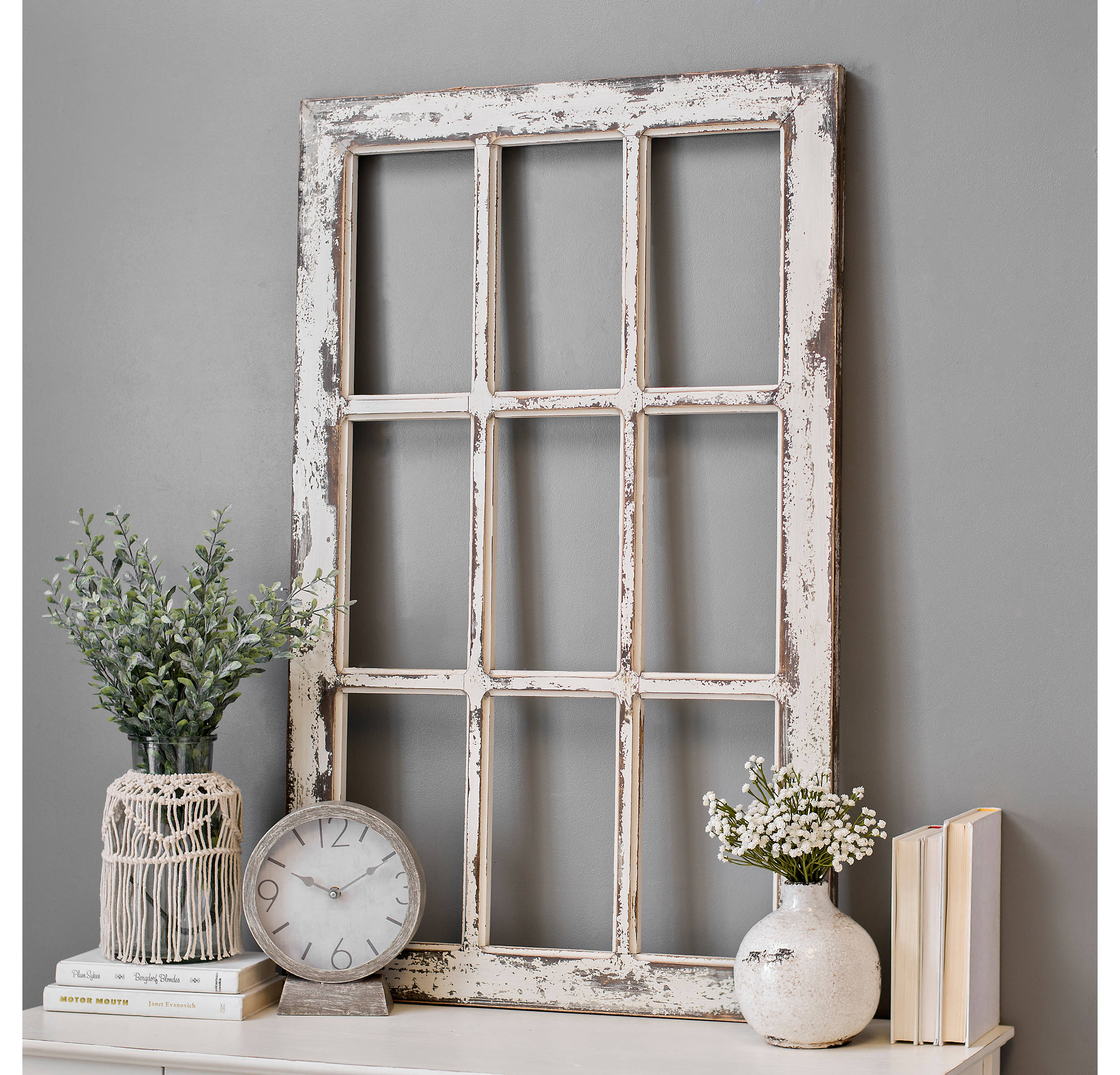 Shop Weathered Rustic Windowpane Wood Wall Plaque from Kirkland's on Openhaus