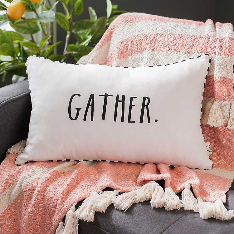 Rae Dunn Gather Accent Pillow Kirklands