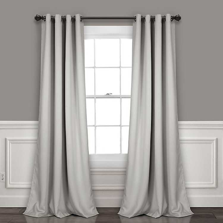 Light Gray Blackout Curtain Panel Set 84 In Kirklands