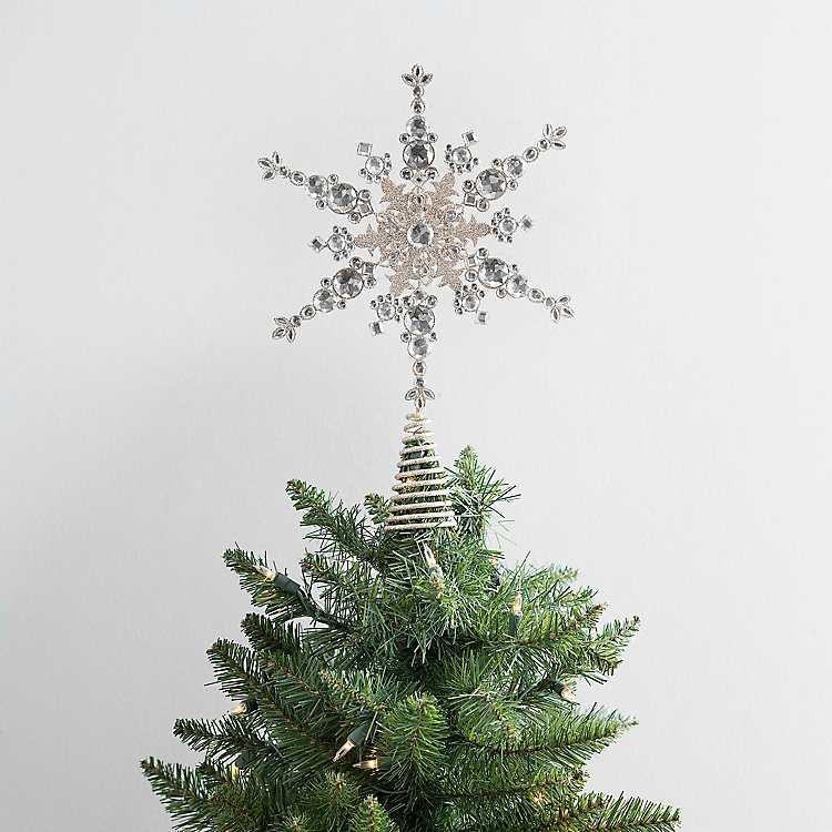 "Set of 12 Decorative Bead Snowflake Ornament 9/""H 12.5/""H Acrylic"
