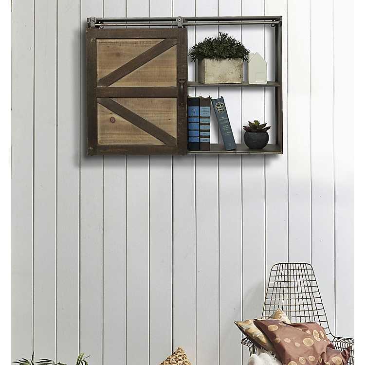 Sliding Barn Door Wall Cabinet Kirklands