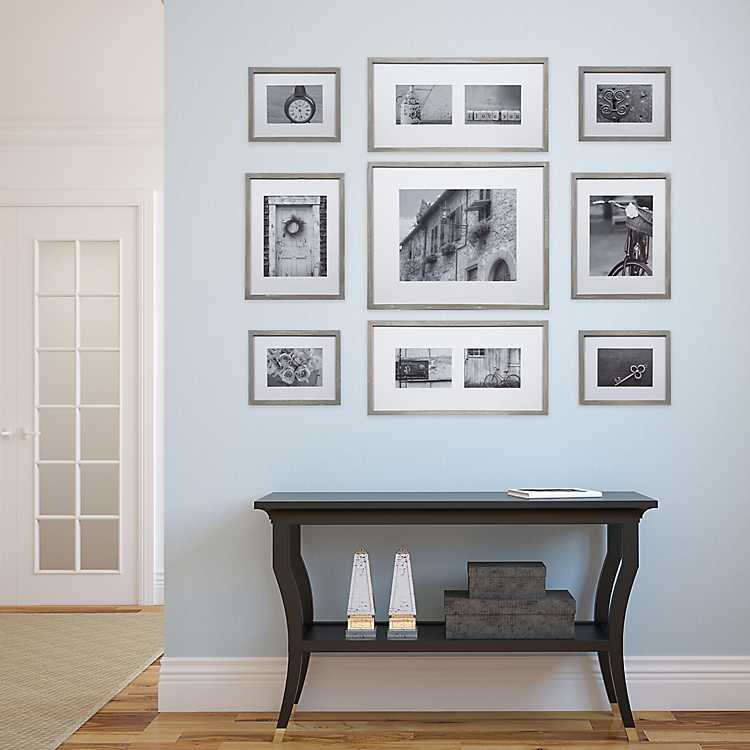 Gray Wash 9 Pc Gallery Wall Frame Set Kirklands