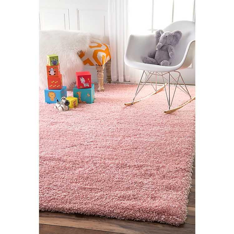 Pink Iliza Shag Area Rug 5x8 Kirklands