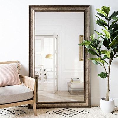 Textured Silver Framed Mirror 45 4x75 4 In Kirklands