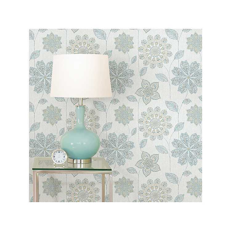 Blue And Green Floral Peel And Stick Wallpaper Kirklands