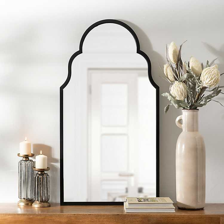 Maria Metal Black Arch Wall Mirror Kirklands