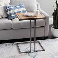 Antique Silver and Wood Beaded C-Table