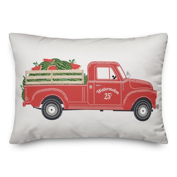 Vintage Watermelon Truck Outdoor Pillow Kirklands