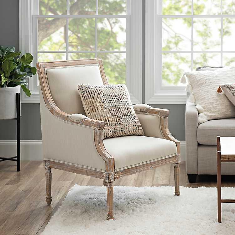 McKenna Solid Cream Accent Chair   Kirklands