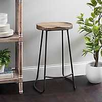 Backless Molded Wood Seat Bar Stool