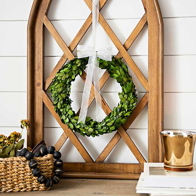 Preserved Boxwood Wreath With Bow 10 In Kirklands