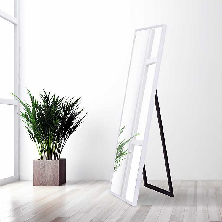 White Floor Mirror With Easel 17 7x59, White Floor Mirror With Easel