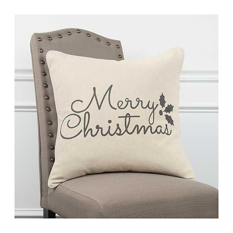 Classic Merry Christmas Pillow Kirklands