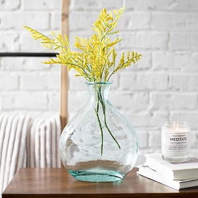 Green Valencia Glass Vase Kirklands