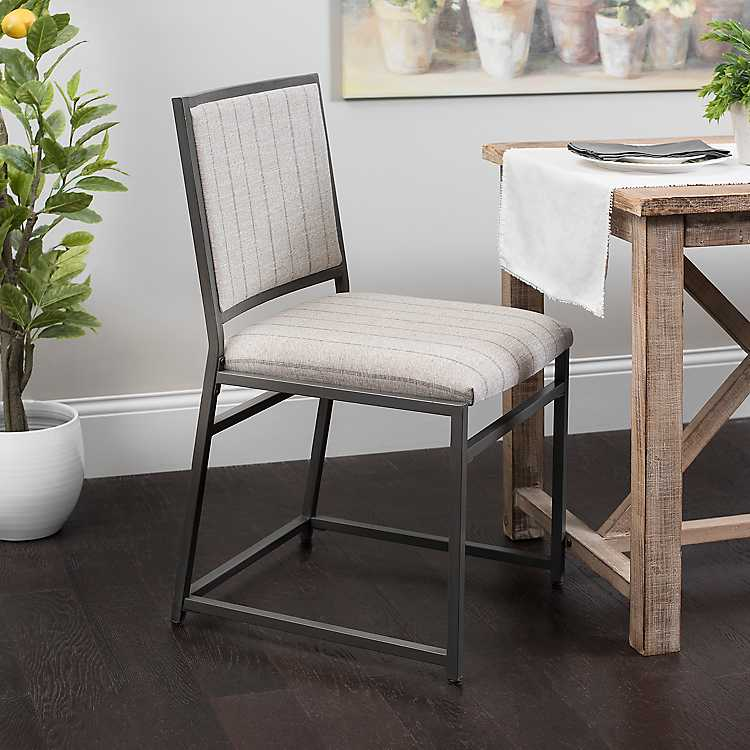 Gray Striped Seat Dining Chair Kirklands