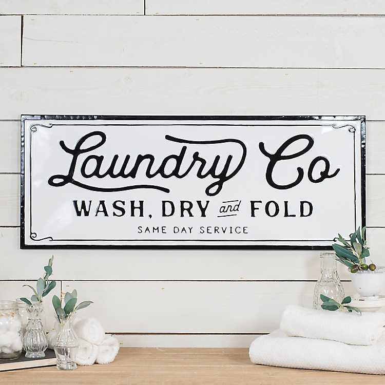 Metal Laundry Wall Plaque Kirklands