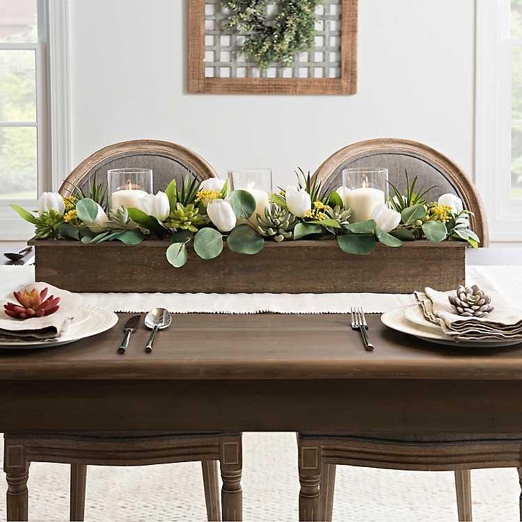 Tulip Succulent And Greenery Mixed Centerpiece Kirklands