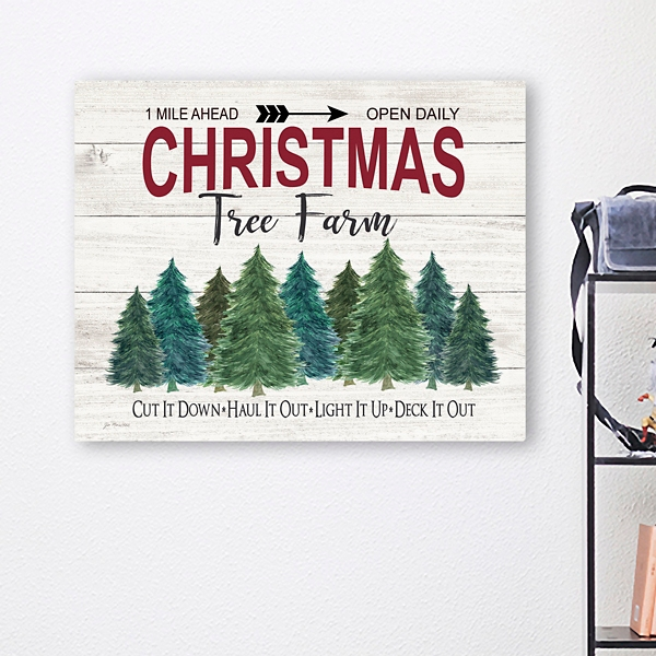 Christmas Tree Farm Canvas Art Print Kirklands
