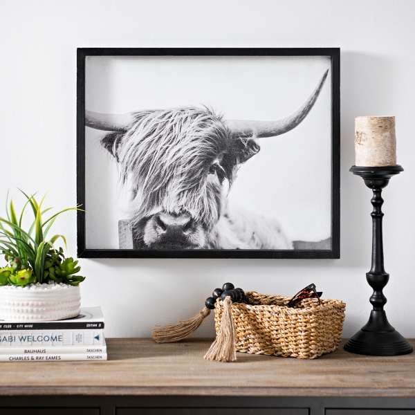 Highland Cow Framed Art Print Kirklands