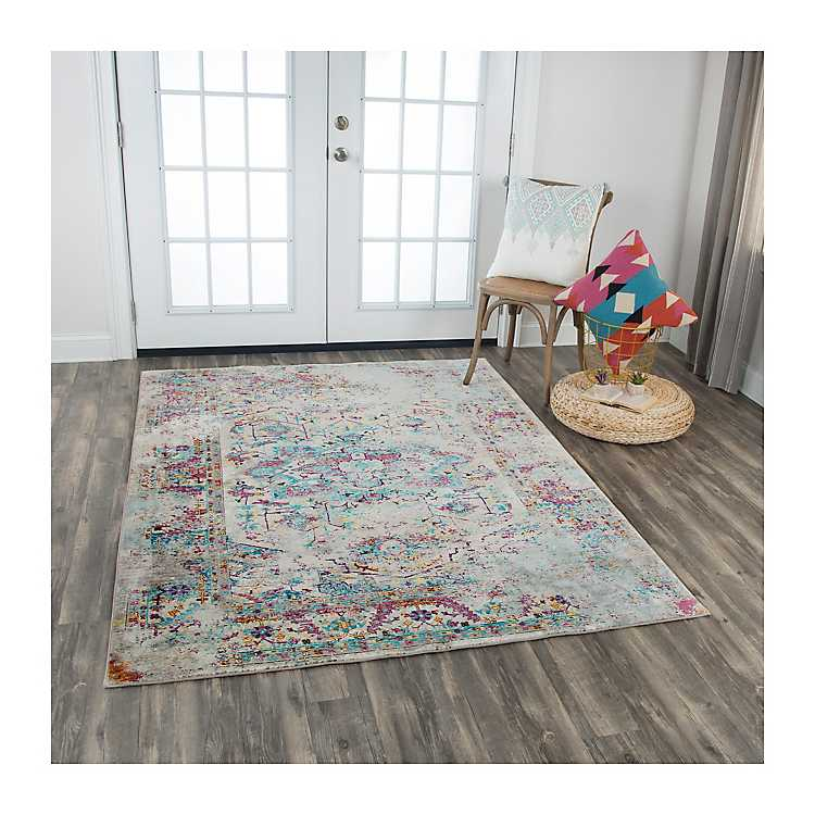 Blue Purple And Yellow Prism Area Rug 5x7 Kirklands