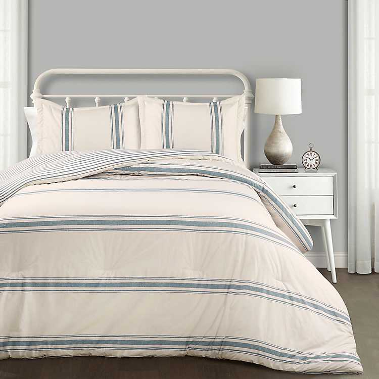 Blue Farmhouse 3 Pc King Comforter Set Kirklands