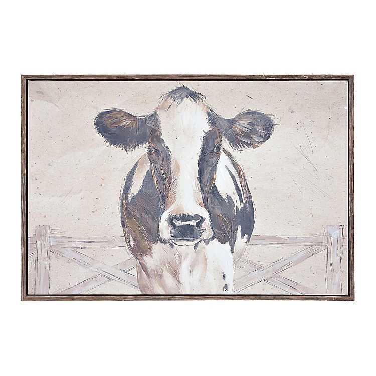 Sepia Cow Framed Art Print Kirklands