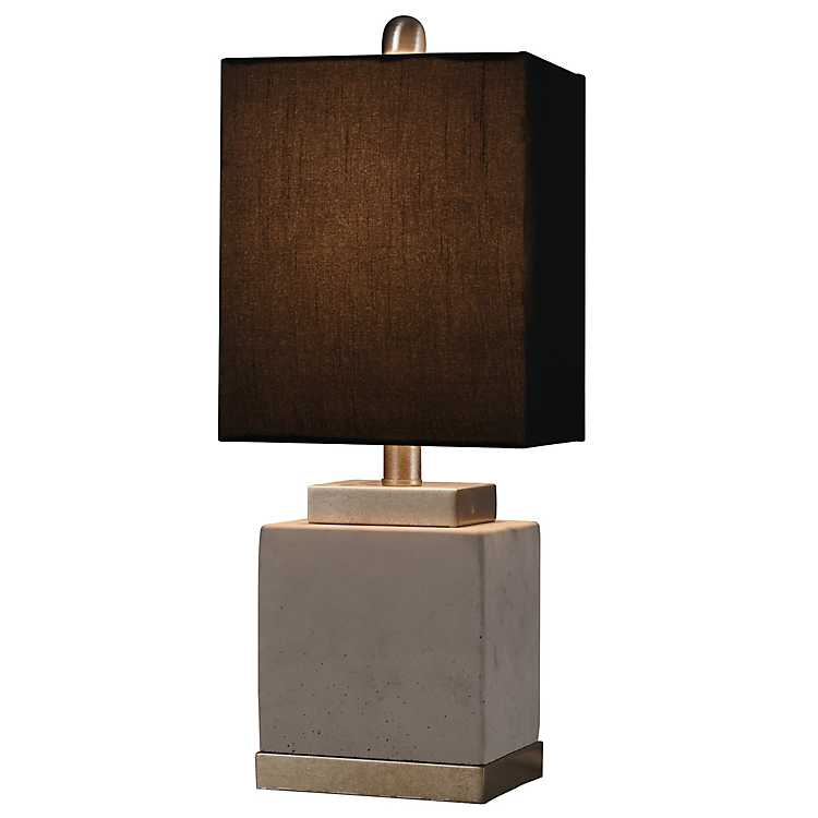 Natalie Square Base Table Lamp With, Table Lamp Square Shade