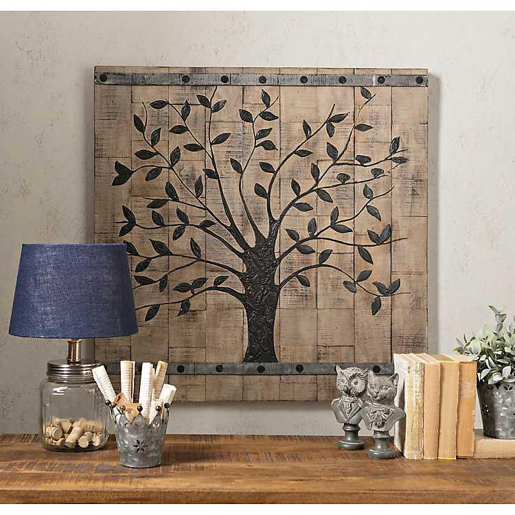 Wooden Tree Of Life Wall Plaque Kirklands