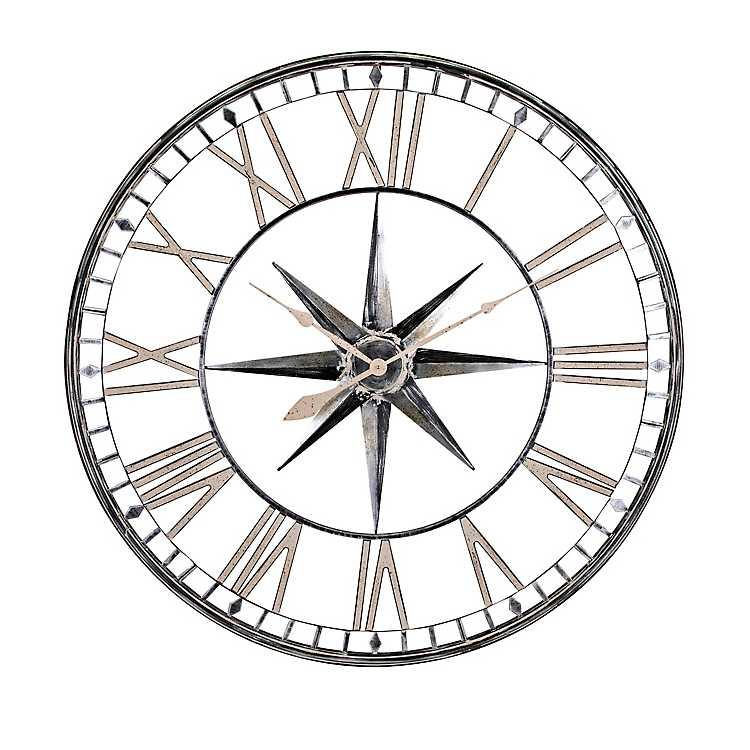 Metal Depth Star Wall Clock Kirklands