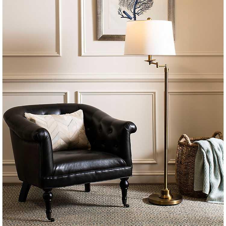 Black Roosevelt Tufted Leather Accent, Black Leather Accent Chairs For Living Room
