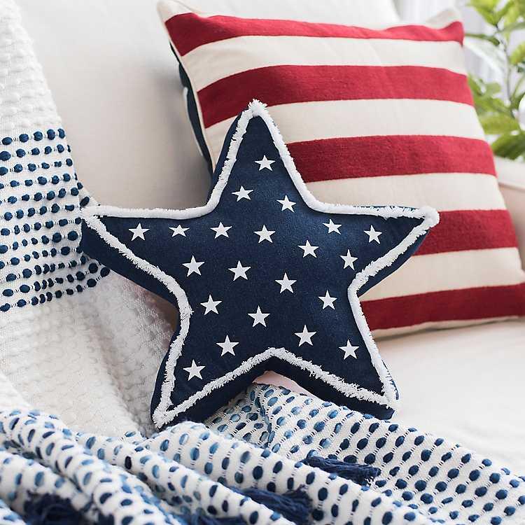 Denim Star Accent Pillow Kirklands