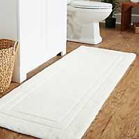 White Large Impress Bath Mat