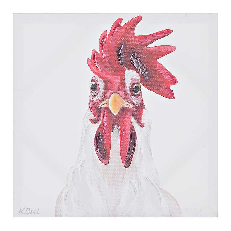 """12/""""x14/"""" Country Chicken Painting HD Canvas print Home decor Room Wall art Poster"""