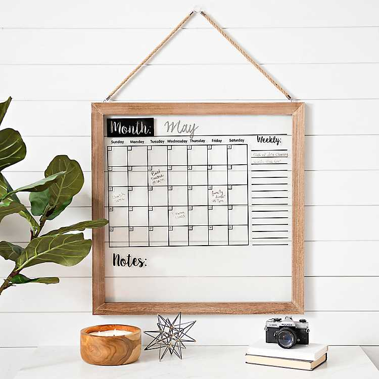 Wood Framed Wall Calendar Dry Erase Board Kirklands