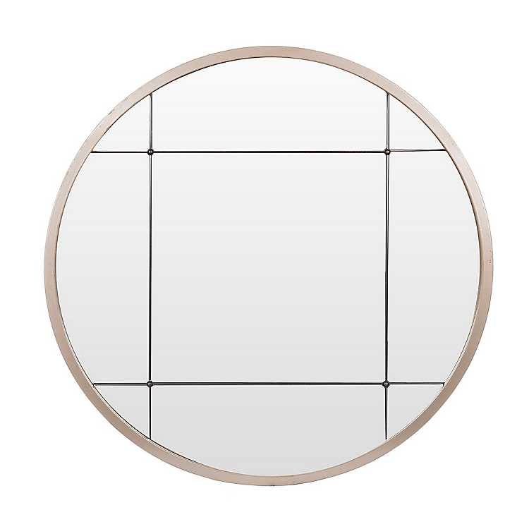 Rose Gold Niamey Panel Wall Mirror 30 In Kirklands