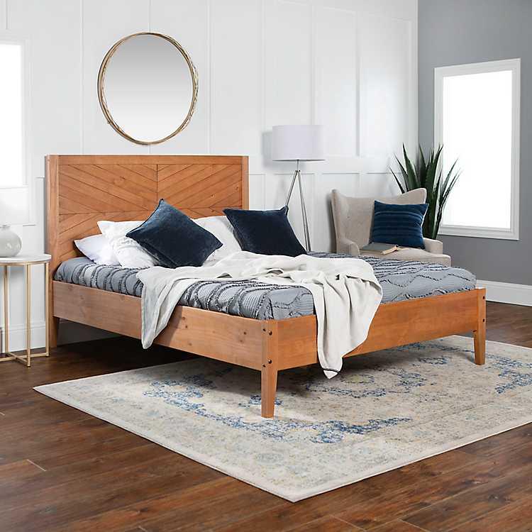 Caramel Solid Wood Queen Bed Kirklands, Solid Wood Queen Bed