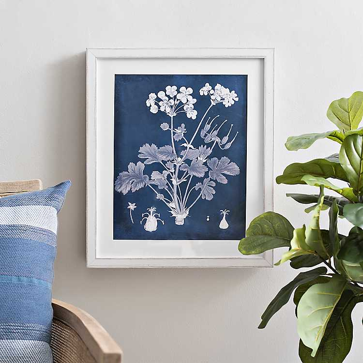 Botanical In Indigo Iii Framed Art Print Kirklands