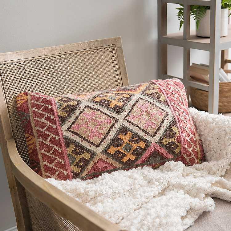 Multicolor Aztec Print Accent Pillow Kirklands